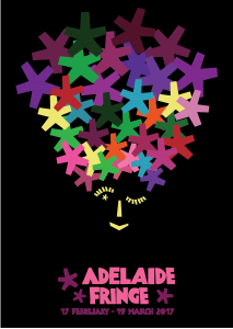 Adelaide Fringe Festival Top thirty Poster Designs 2017 Loretta Faulkner Byron Bay Graphic Designs and WordPressit Website Development