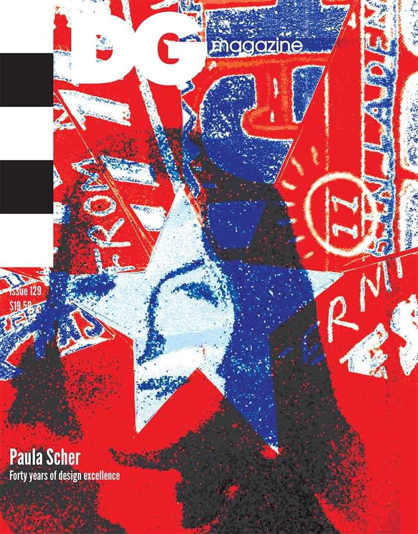 Paula Scher DG Magazine Cover Design