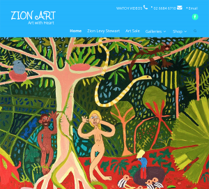 Zion art Graphic Design Byron Bay Graphic Designs WordPress website and print and web assets