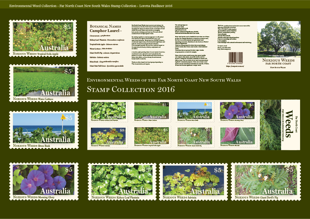 Postage Stamp Design Collection Far North Coast Weeds