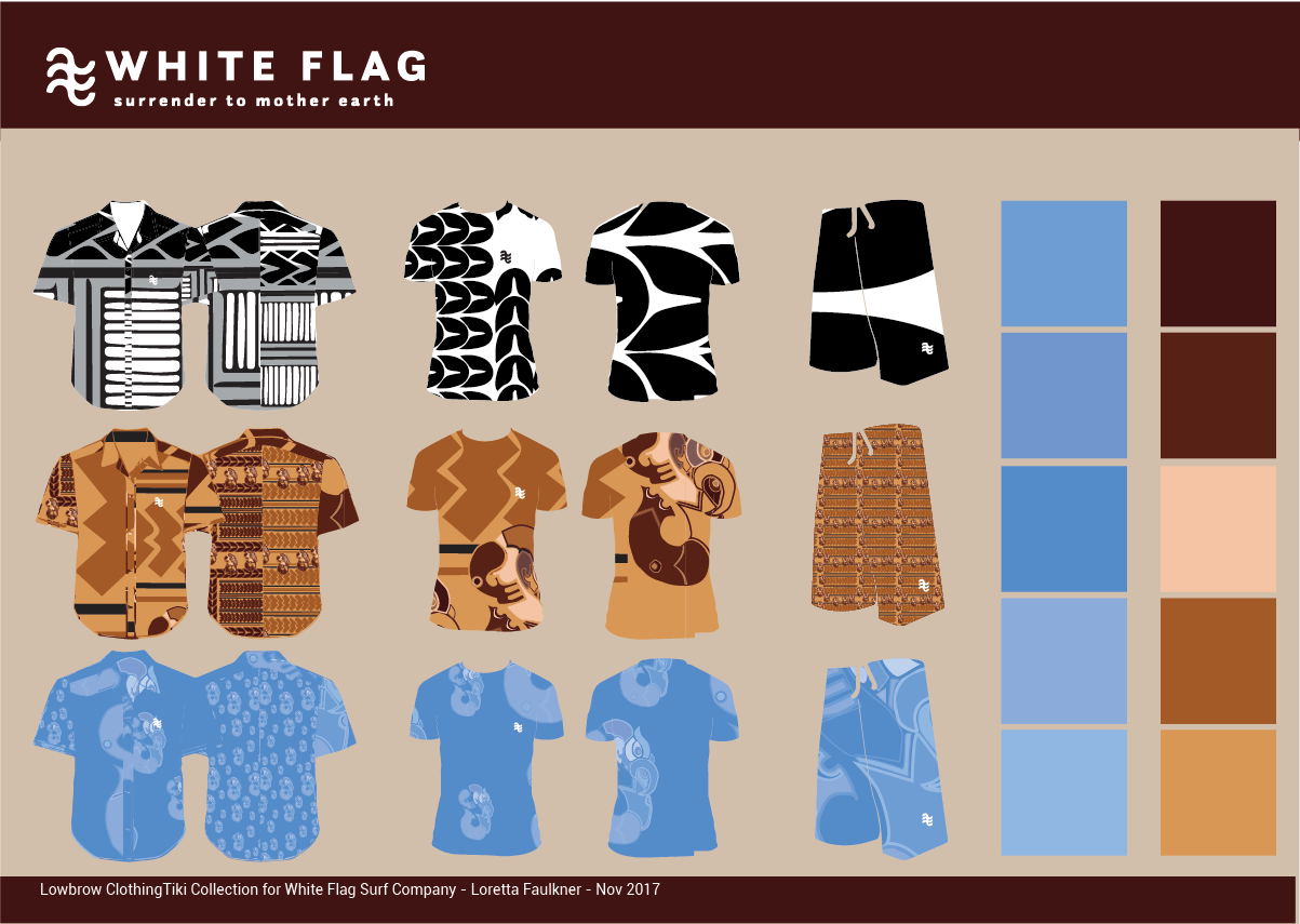 Byron Bay Graphic Designs White Flag Eco Surf Branding and Merchandise Design