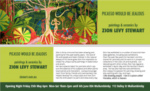Byron Bay Graphic Designs Bookmark zion levy stewart art exhibition graphic design and print