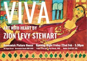 Viva Art Exhibtion Flyer Byron Bay Graphic Design and Web Development