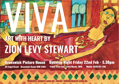 Viva Art Exhibtion Flyer Byron Bay Graphic Design and Web Development