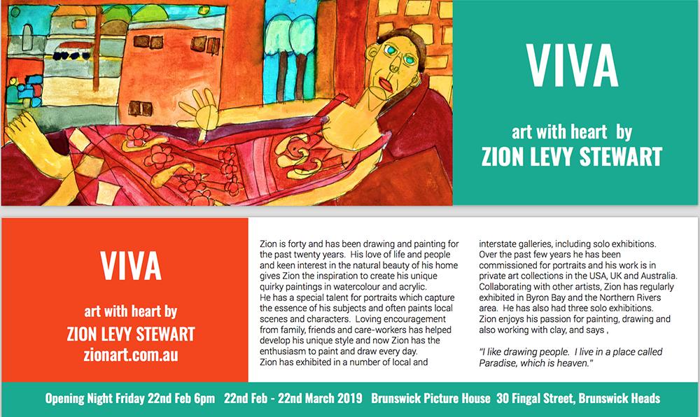 Byron Bay Graphic Designs Bookmark zion levy stewart art exhibition graphic design and print