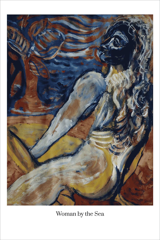 Val Kullack Woman By the Sea Visual Art Print Byronbaygraphdesigns.com